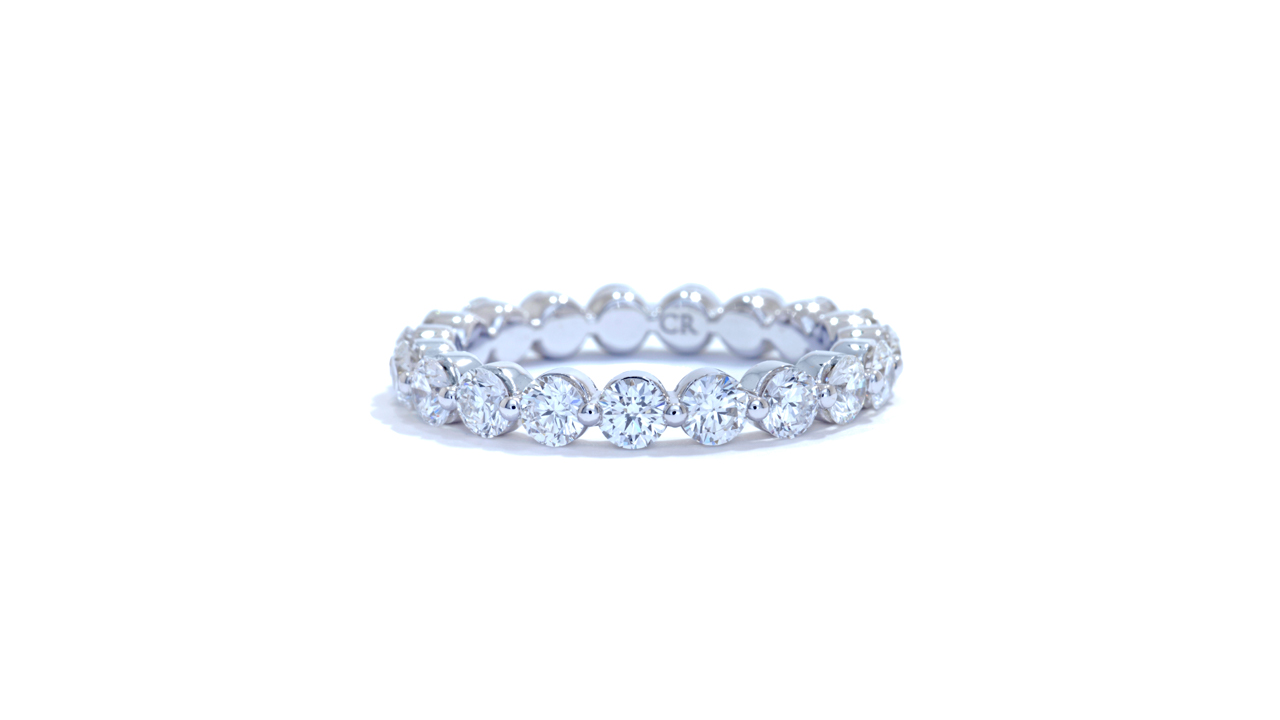 jb1901 - Floating Anniversary Band (in 18k white gold) at Ascot Diamonds