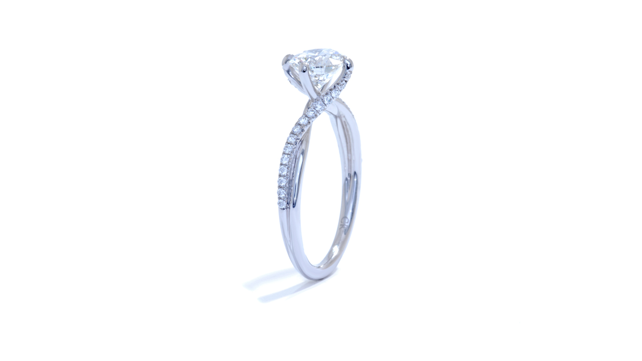 jb2031_d6124 - Twisted Diamond Band Solitaire Ring at Ascot Diamonds