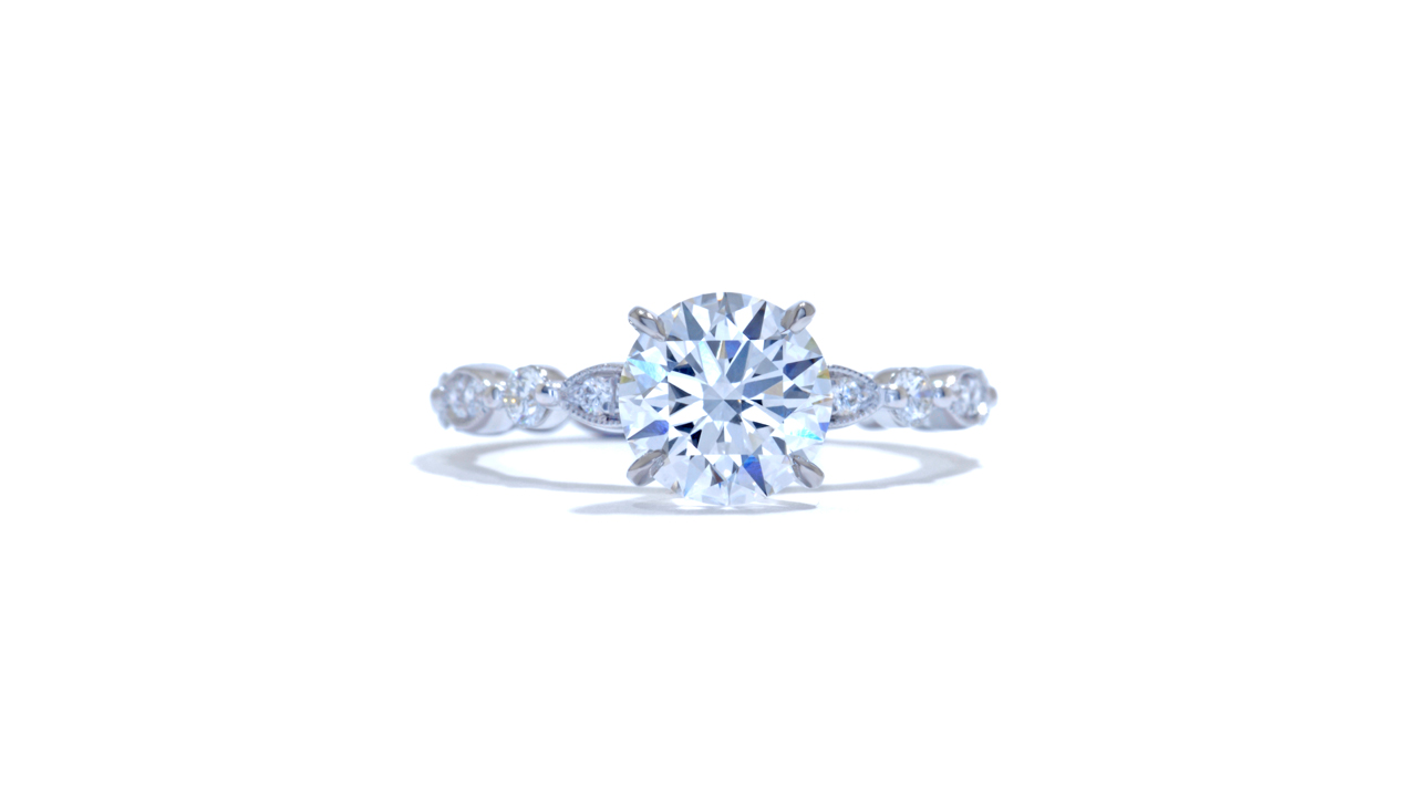 jb2280_lgd1199 - Round Lab Grown Diamond Ring at Ascot Diamonds