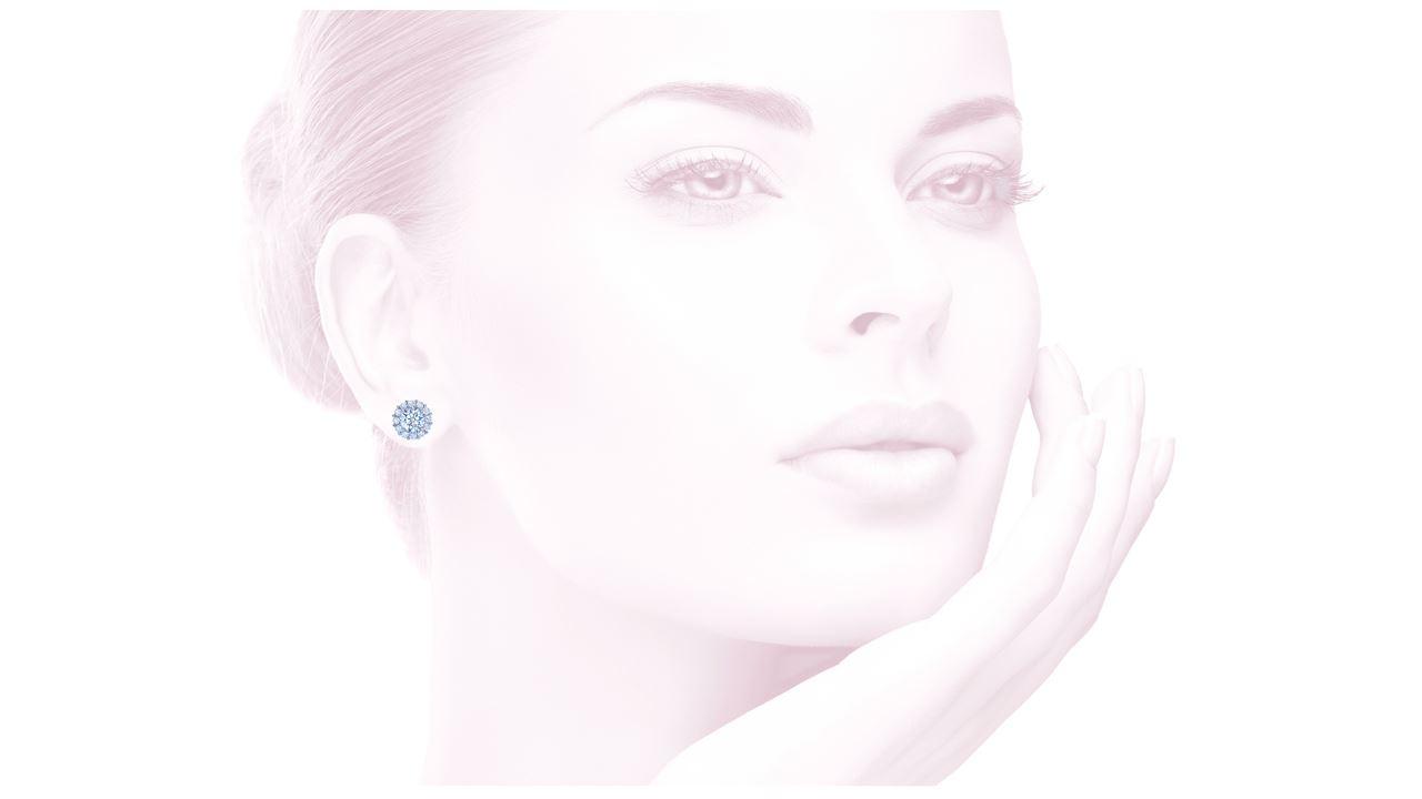 jb2642 - Halo Diamond Earrings at Ascot Diamonds