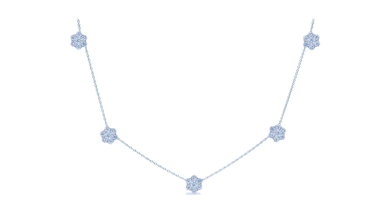 jb2692 - Florettes Diamond Necklace 2.24 ct. tw (in 18k white gold) at Ascot Diamonds