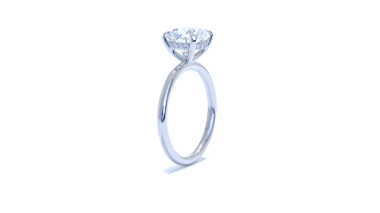 jb2695_lgd1477 - Hidden Halo Solitaire Engagement Ring at Ascot Diamonds