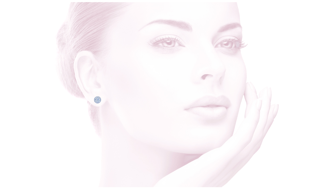 jb2729 - Diamond Round Halo Earrings at Ascot Diamonds