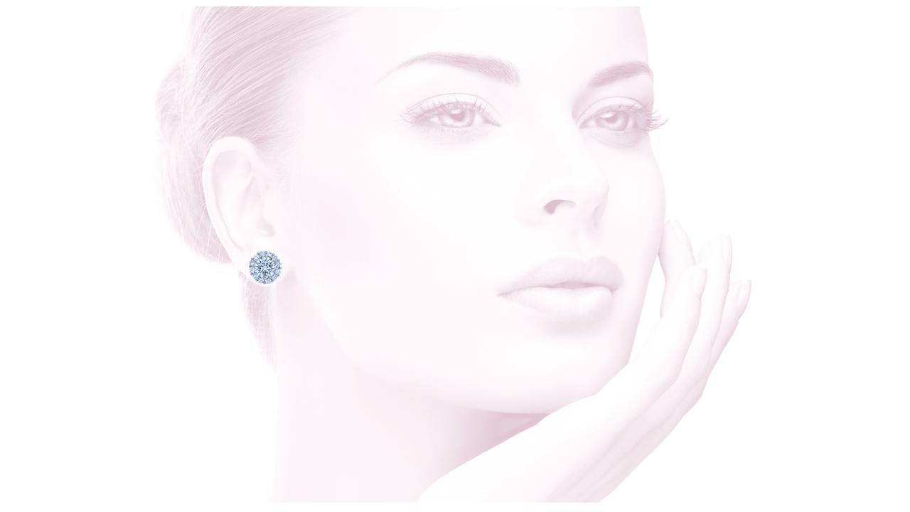 jb3018 - Round Brilliant Diamond Earrings at Ascot Diamonds