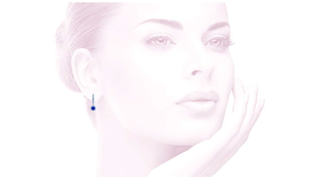 jb3047 - Art-deco Sapphire Diamond Earrings at Ascot Diamonds