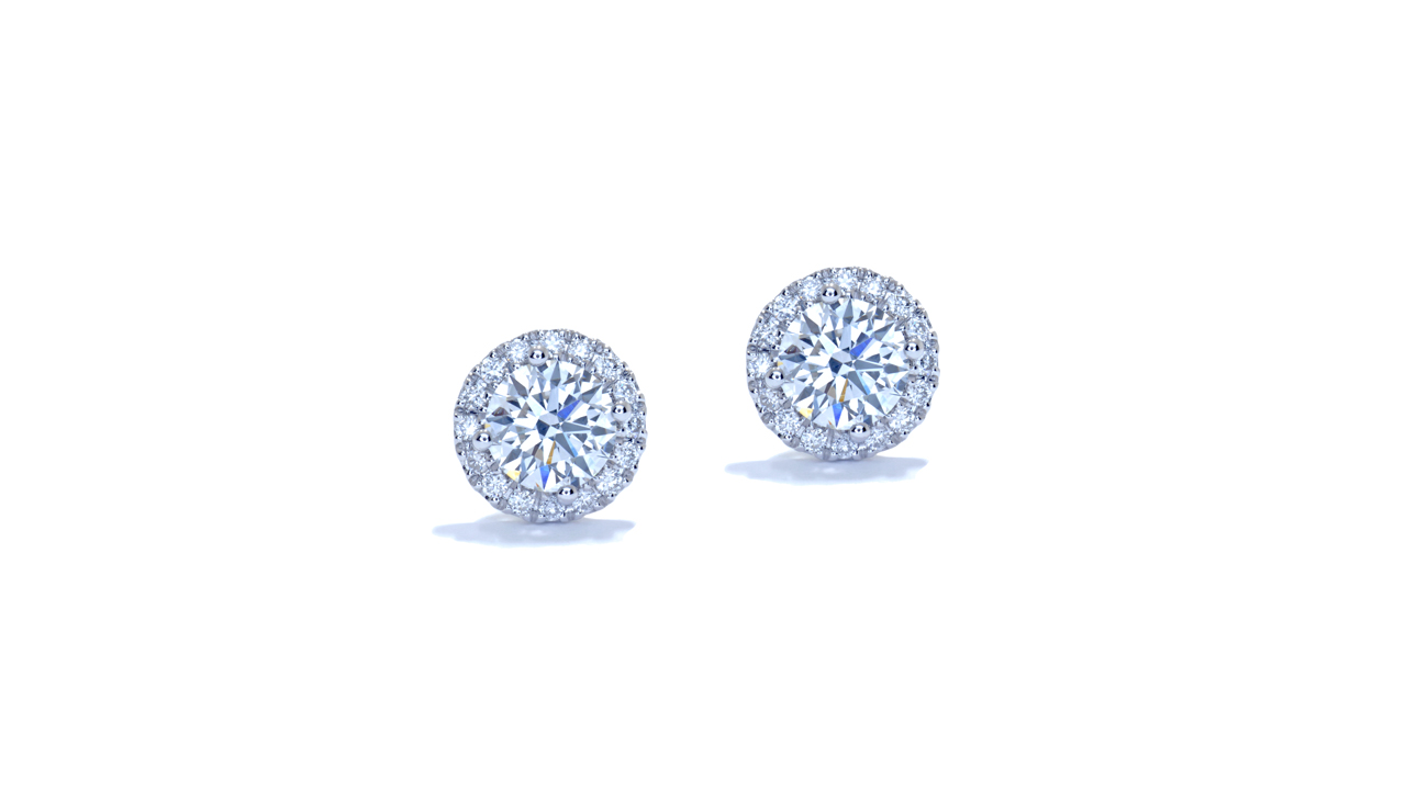 jb3052 - Round Halo Stud Earrings at Ascot Diamonds