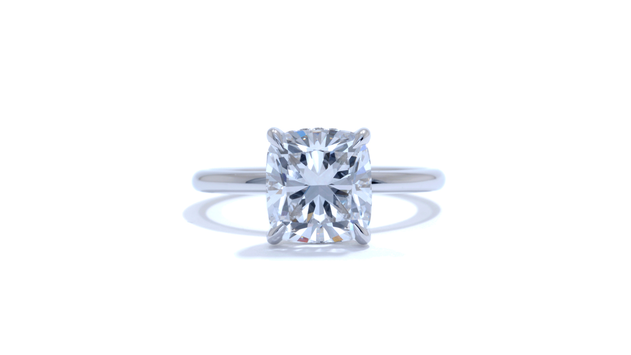 jb3152_lgd1074 - Lab Grown Cushion Diamond Solitaire Ring at Ascot Diamonds