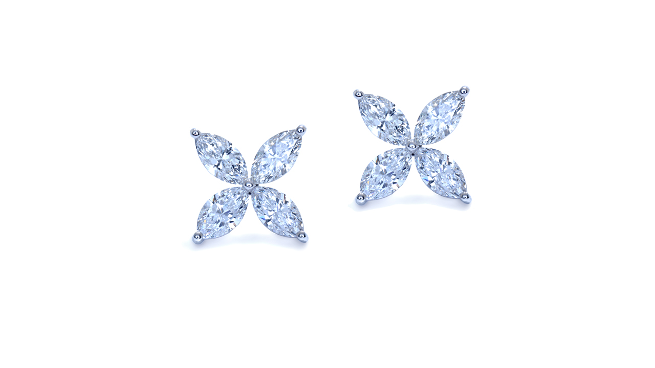 jb3227 - Marquise Custom Diamond Earrings at Ascot Diamonds