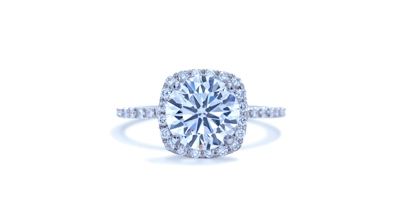 jb3230_lgd1099 - Round Cut Lab Created Diamond Ring at Ascot Diamonds