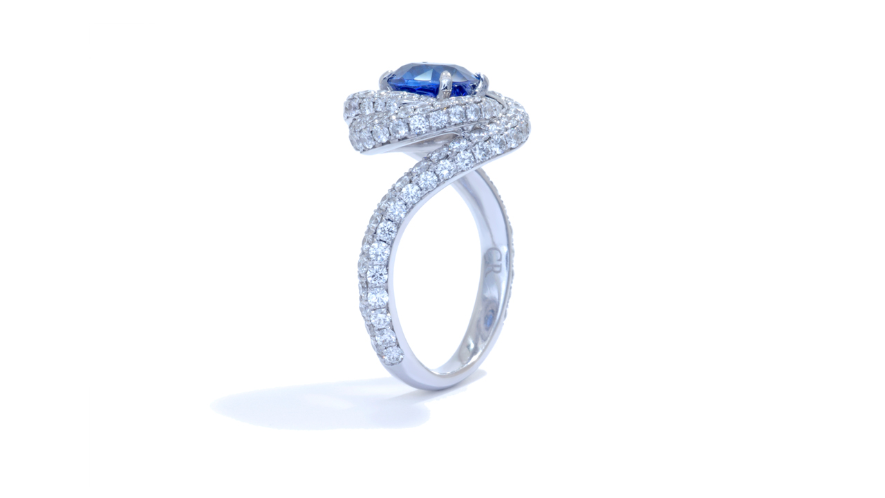 jb3453_bsap7-0rd - Pavé Style Custom Sapphire Ring at Ascot Diamonds