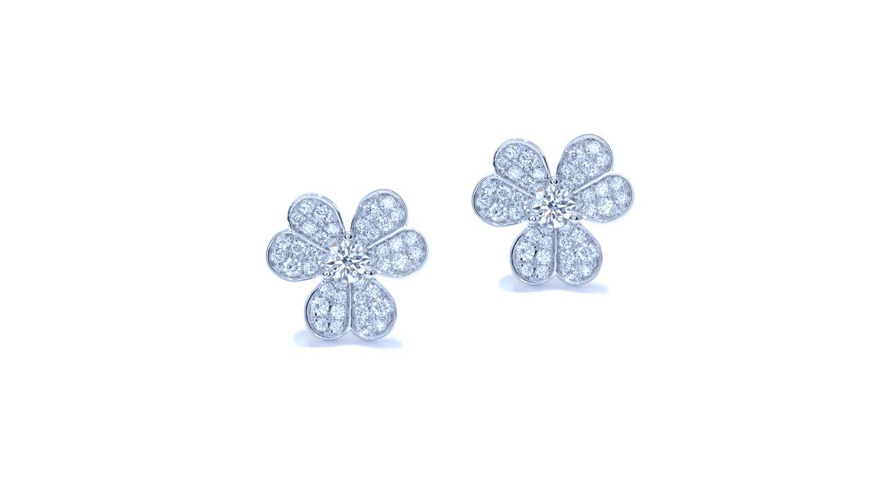 jb3522 - Clover Diamond Earrings at Ascot Diamonds