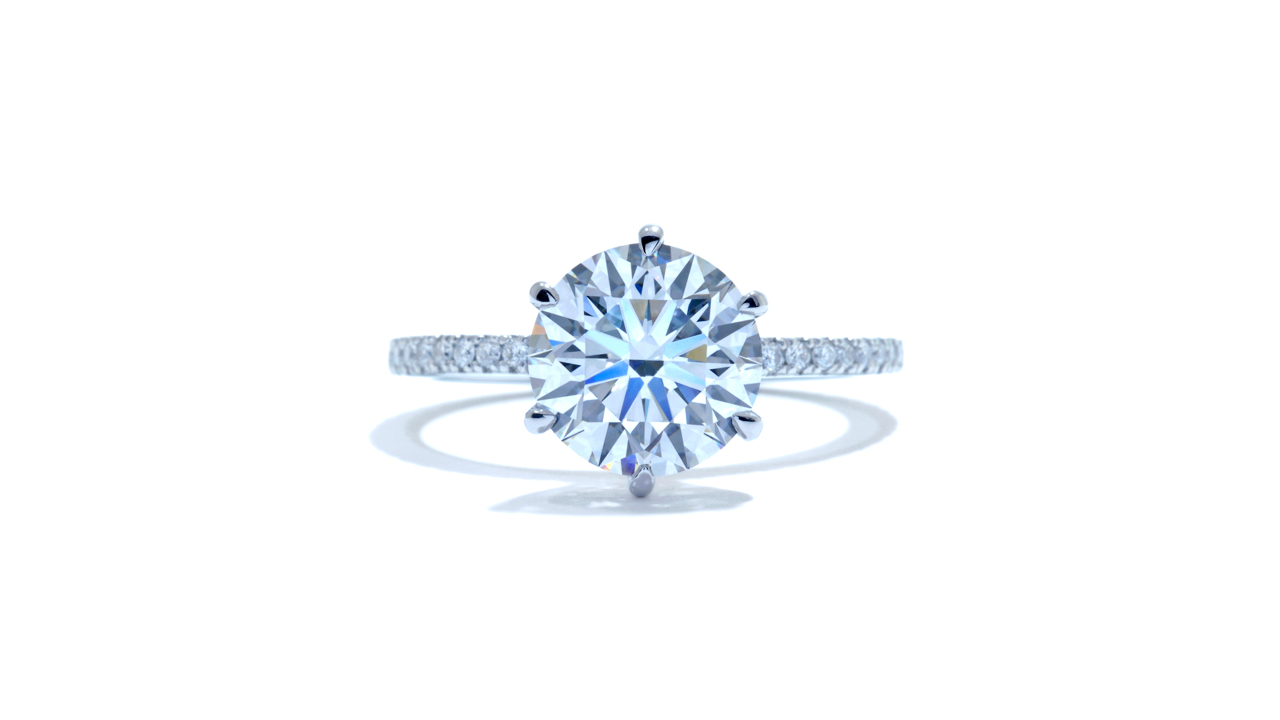 jb3552_lgd1344 - 6 Prong Round Diamond Engagement Ring at Ascot Diamonds