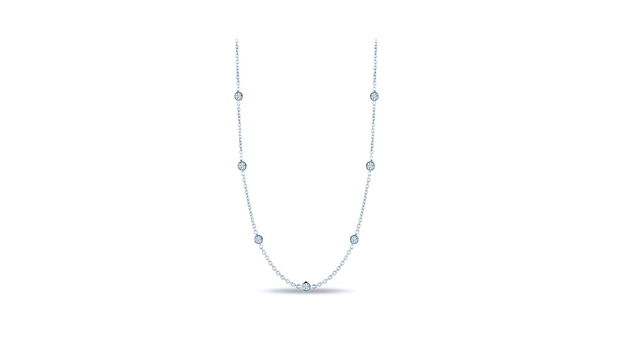 jb3570 - Bezel-Set Diamond Necklace (in 18k white gold) at Ascot Diamonds