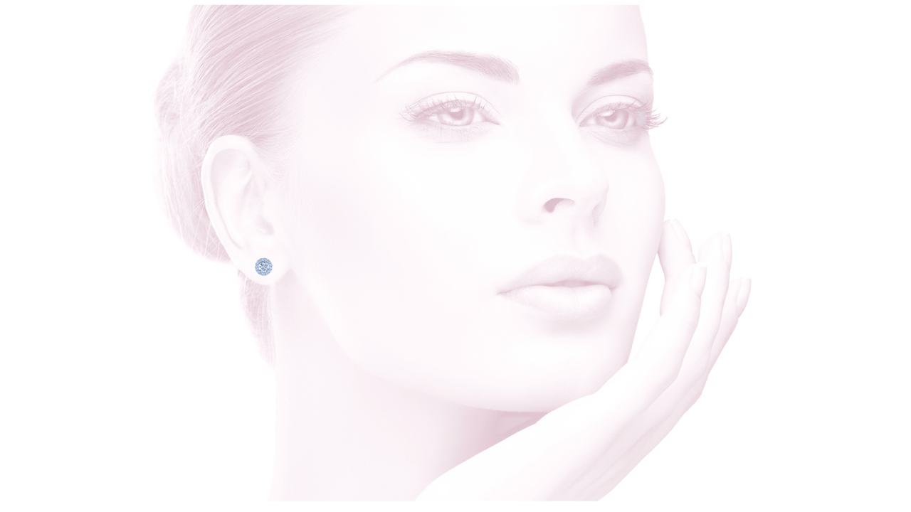 jb3624 - Petite Diamond Halo Earrings at Ascot Diamonds