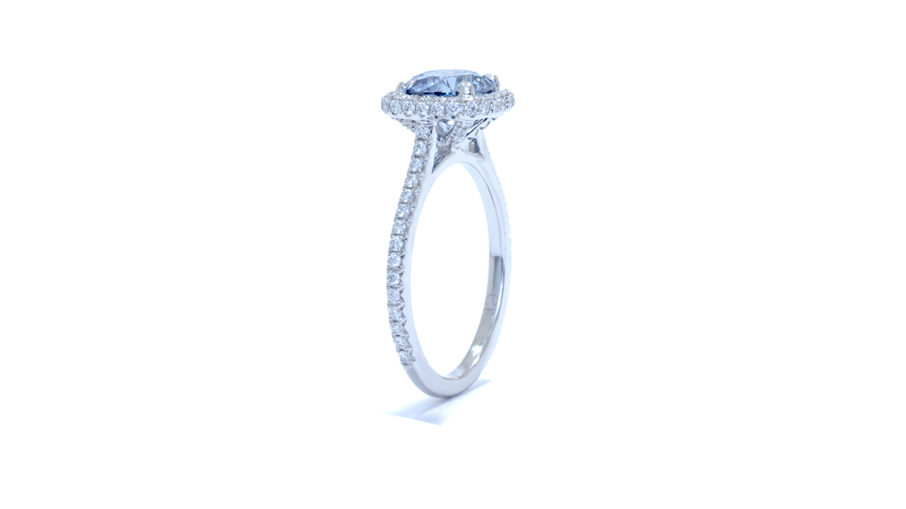 jb3639_lgd1187 - Fancy Blue Diamond Ring - Lab Grown at Ascot Diamonds