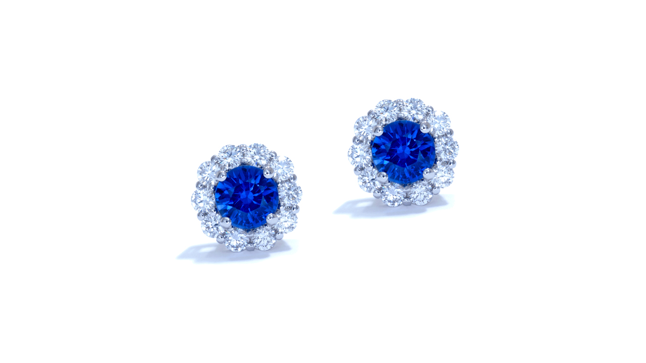 jb3675 - Sapphire and Diamond Earrings at Ascot Diamonds