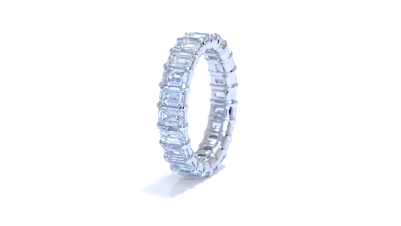 jb3746 - 4.5 ct Emerald Cut Diamond Eternity Ring  at Ascot Diamonds