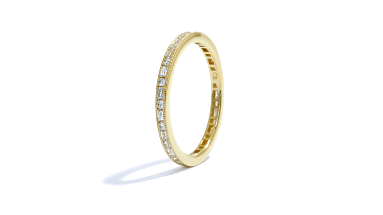 jb3803 - Stacking Round and Baguette Diamond Band at Ascot Diamonds