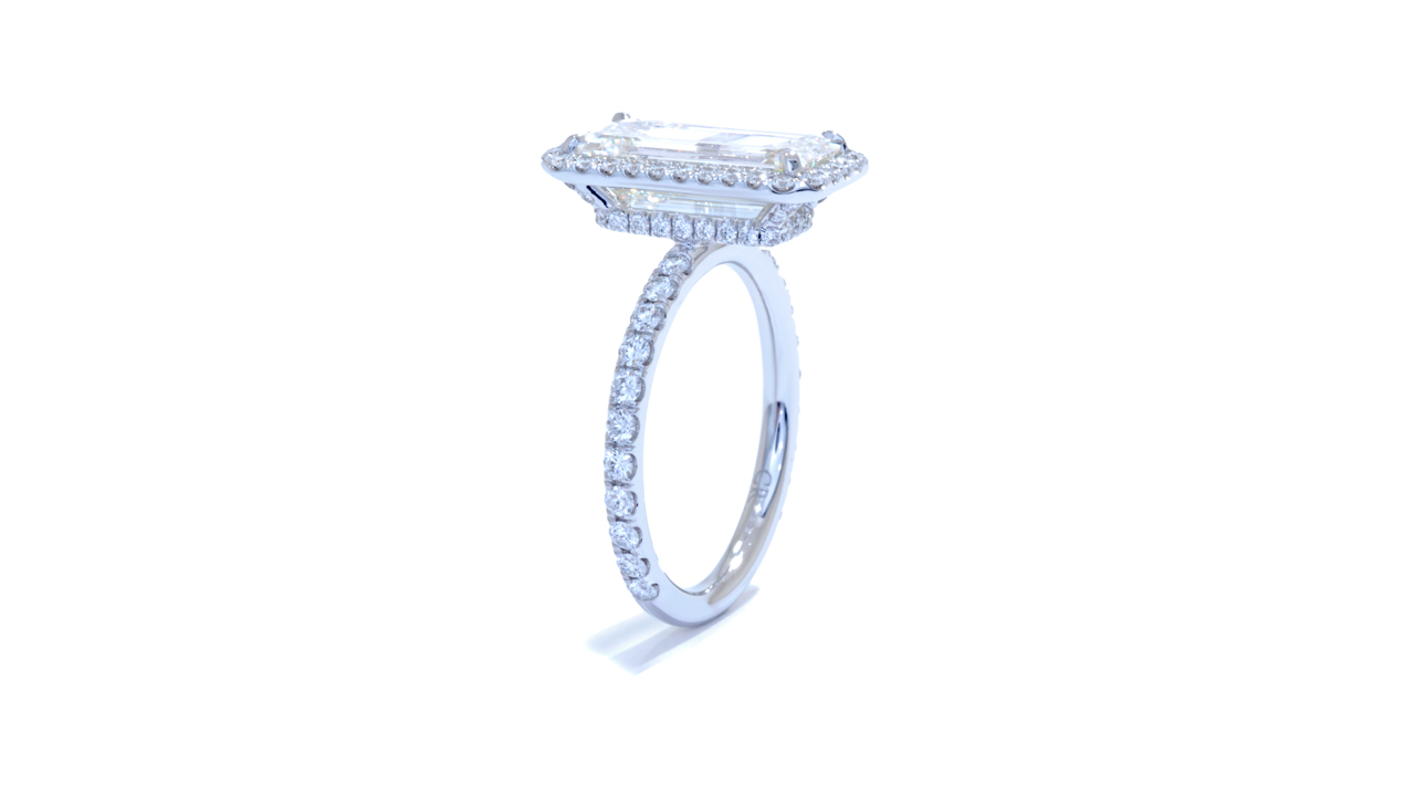 jb3828_d6373 - Emerald Cut Halo Diamond Ring at Ascot Diamonds