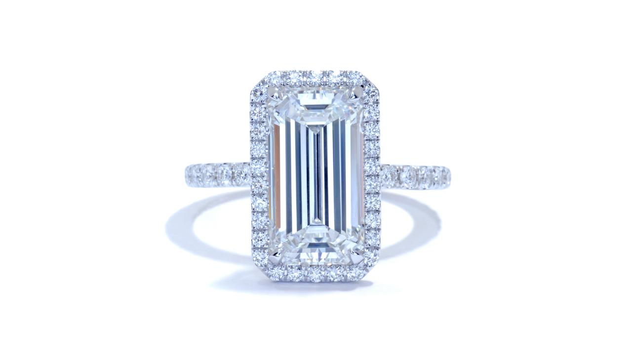 jb3828_lgd1575 - Emerald Cut Halo Diamond Ring at Ascot Diamonds