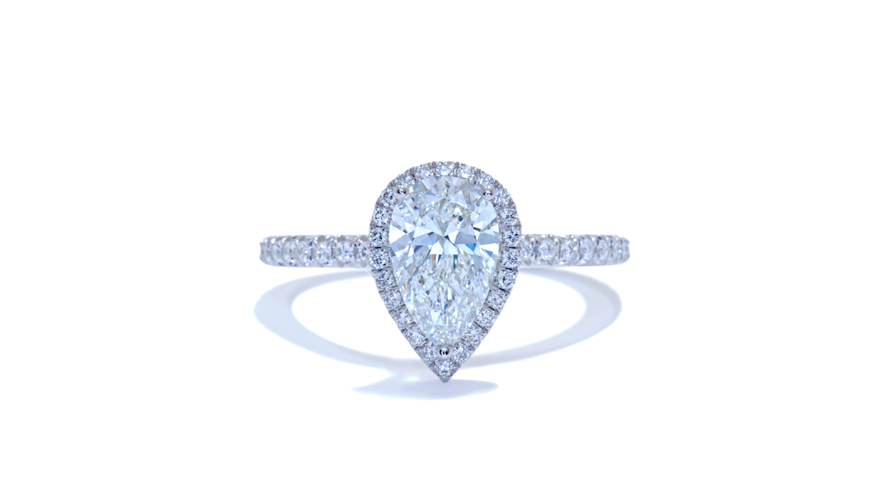 jb3930_d6016 - 0.90ct Pear Shape Engagement Ring at Ascot Diamonds