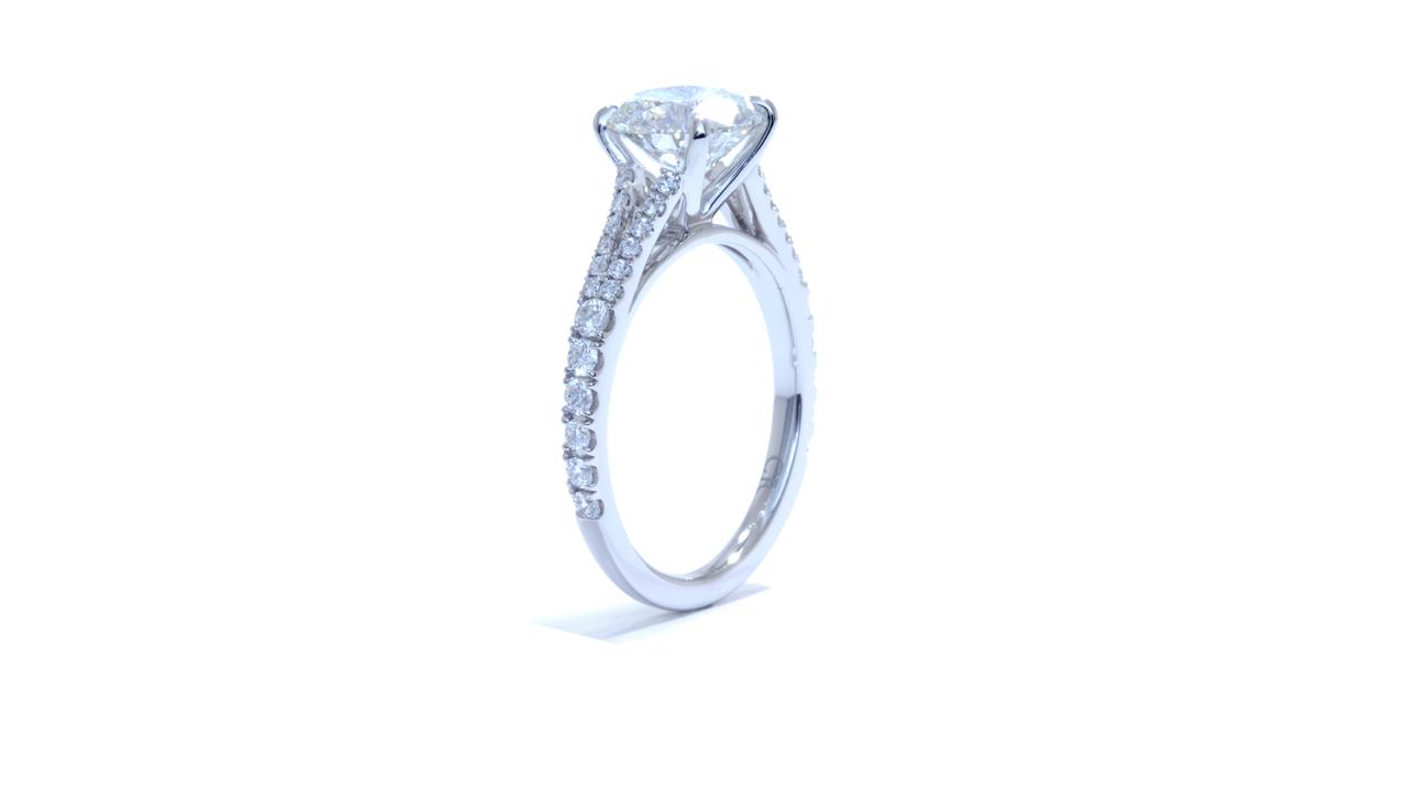 jb3969_lgd1167 - Split Band Diamond Engagement Ring at Ascot Diamonds
