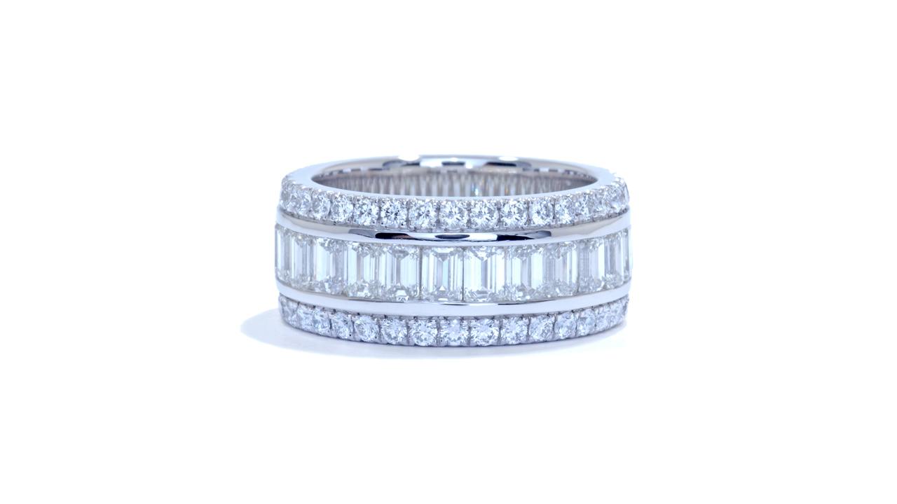 jb4136 - 4.84 ct. tw. Wide Emerald Cut Diamond Band at Ascot Diamonds