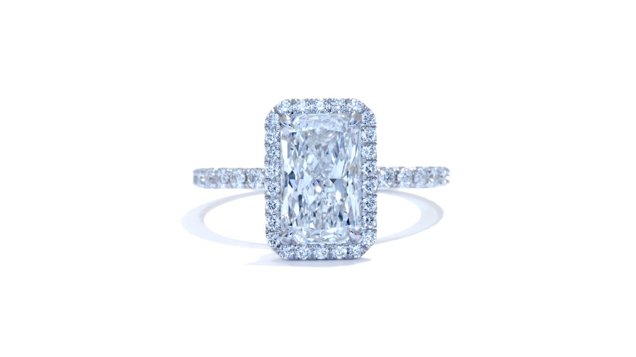 jb4200_d6372 - 2 ct Radiant Cut Diamond Engagement Ring  at Ascot Diamonds