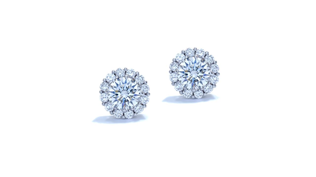 jb4271 - Sapphire and Diamond Halo Earrings at Ascot Diamonds