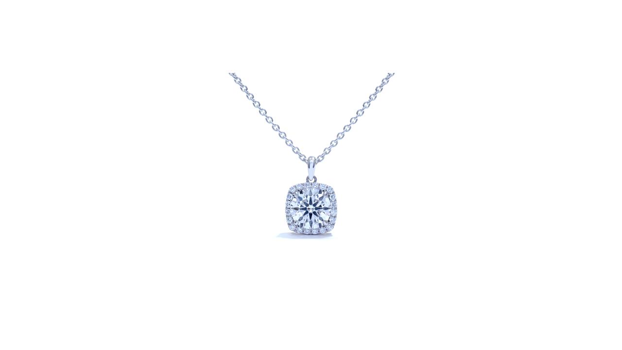 jb4350 - Halo Diamond Necklace at Ascot Diamonds