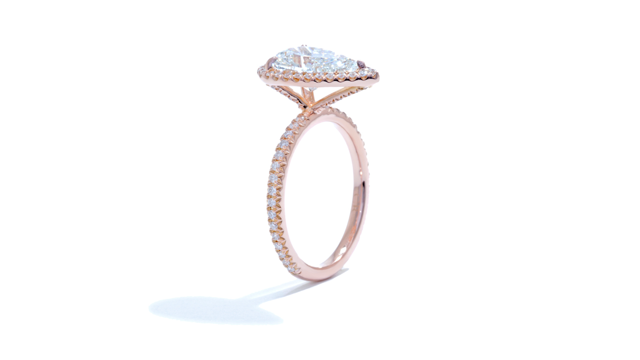 jb4513_d4158 - 2.50ct Pear Halo Engagement Ring at Ascot Diamonds