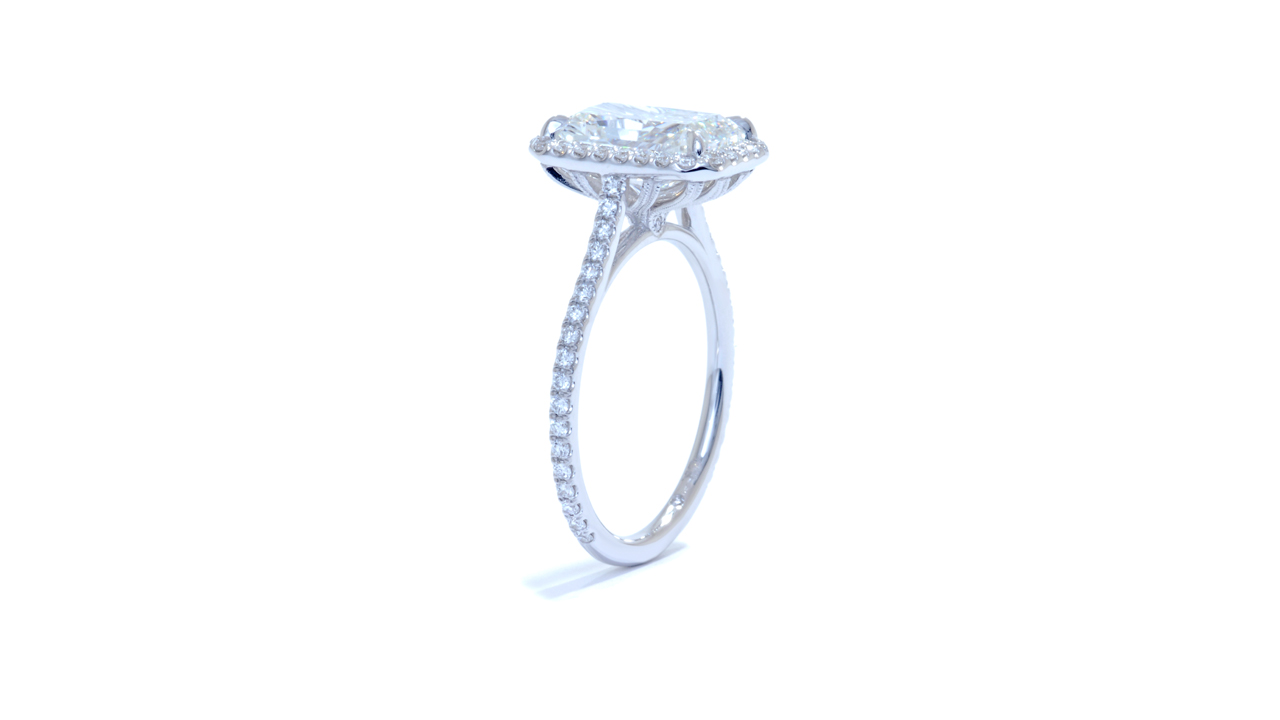 jb4706_lgd1146 - Radiant Cut Diamond Engagement Ring at Ascot Diamonds