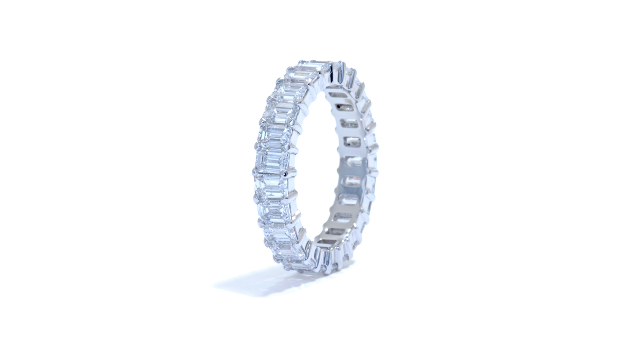 jb4803 - 3 ct Emerald Cut Wedding Ring at Ascot Diamonds