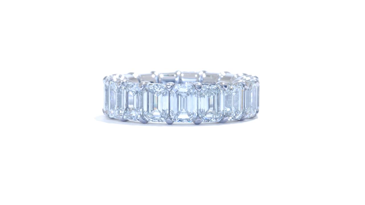 jb4841 - 9 carat Emerald Diamond Eternity Band at Ascot Diamonds