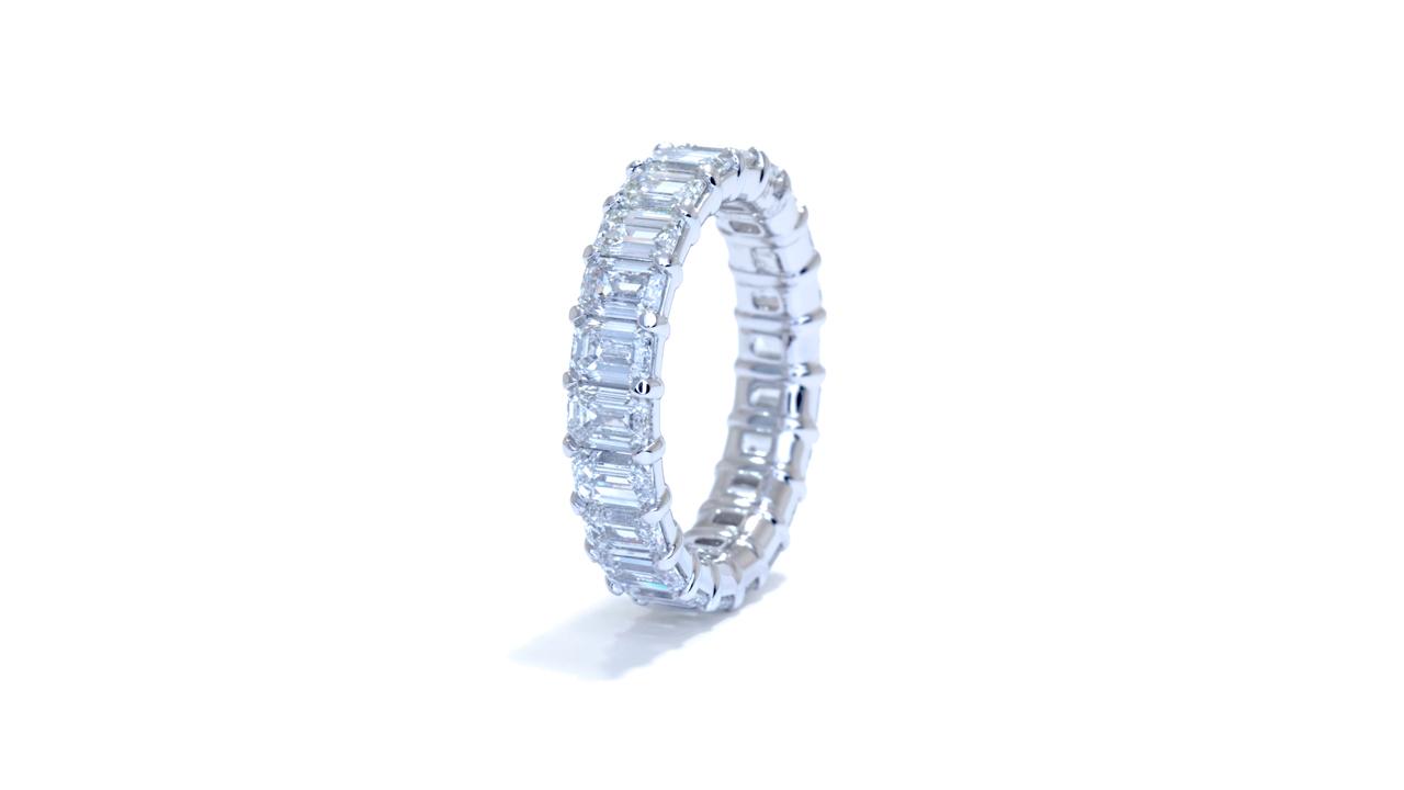 jb4887 - Ladies Diamond Emerald Eternity Band at Ascot Diamonds