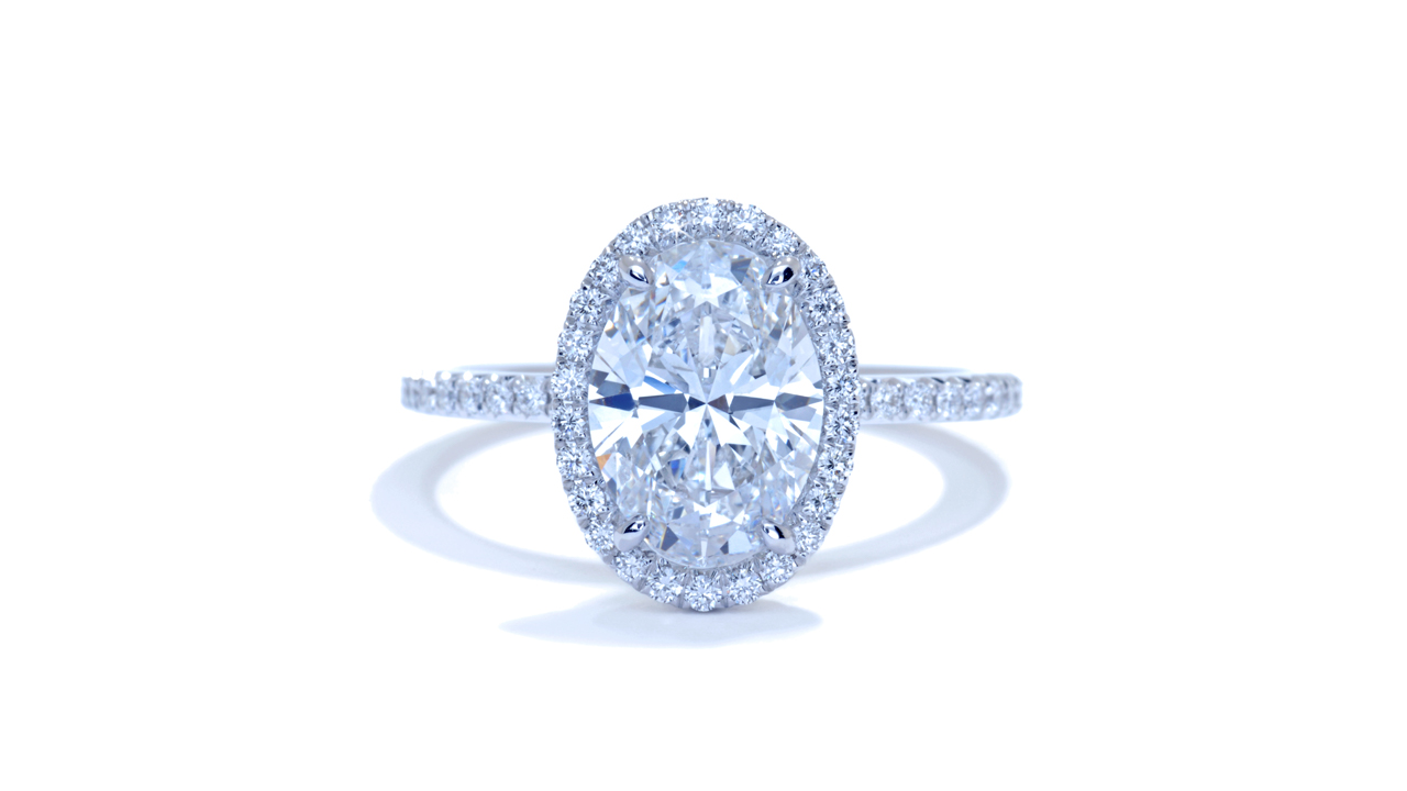 jb4962_lgd1616 - 2.37ct Oval Halo Diamond Engagement Ring at Ascot Diamonds