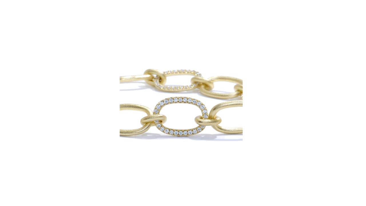 jb5144 - 18KY Gold and Diamond Link Bracelet at Ascot Diamonds