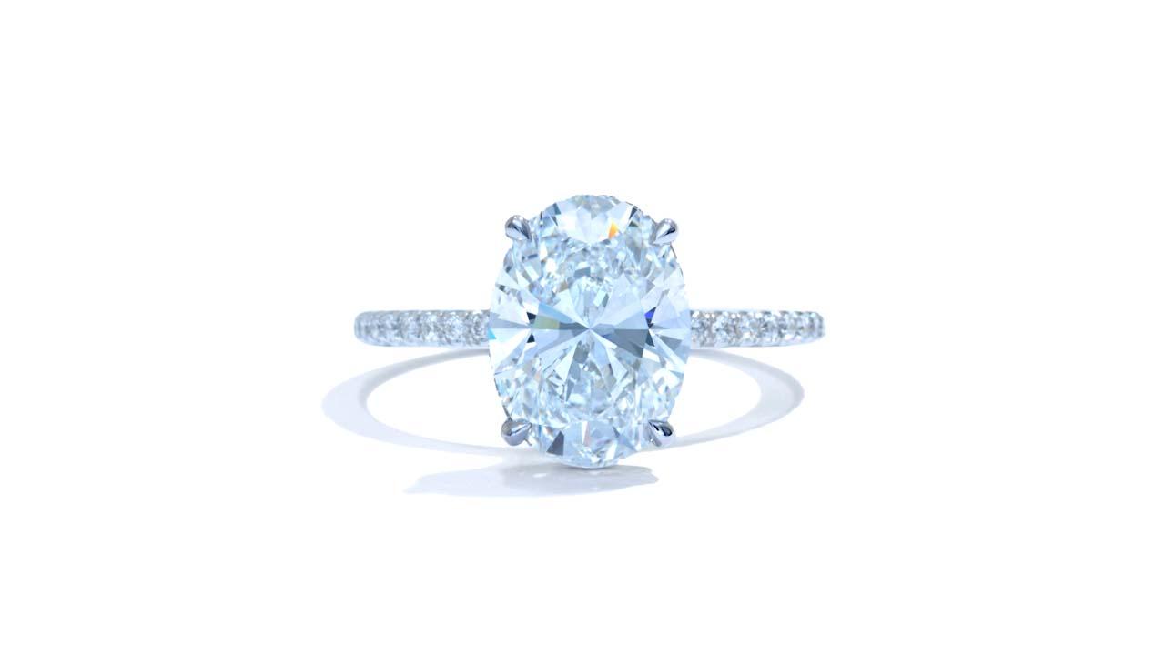 jb5215_lgd1663 - 3.00 Carat Oval Engagement Ring at Ascot Diamonds