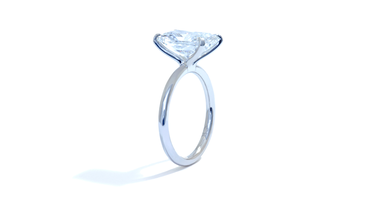 jb5219_lgd1679 - 5 carat Radiant Cut Engagement Ring at Ascot Diamonds