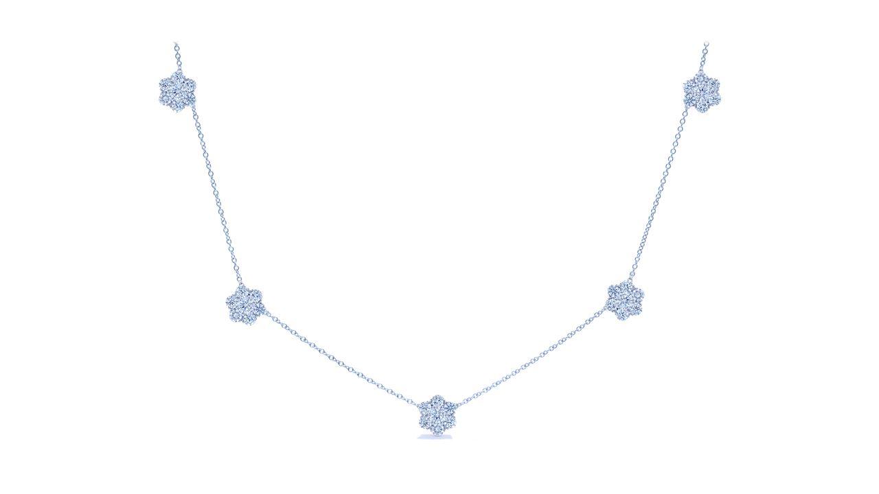 jb5225 - 4.95 ct. Florettes Diamond Necklace at Ascot Diamonds