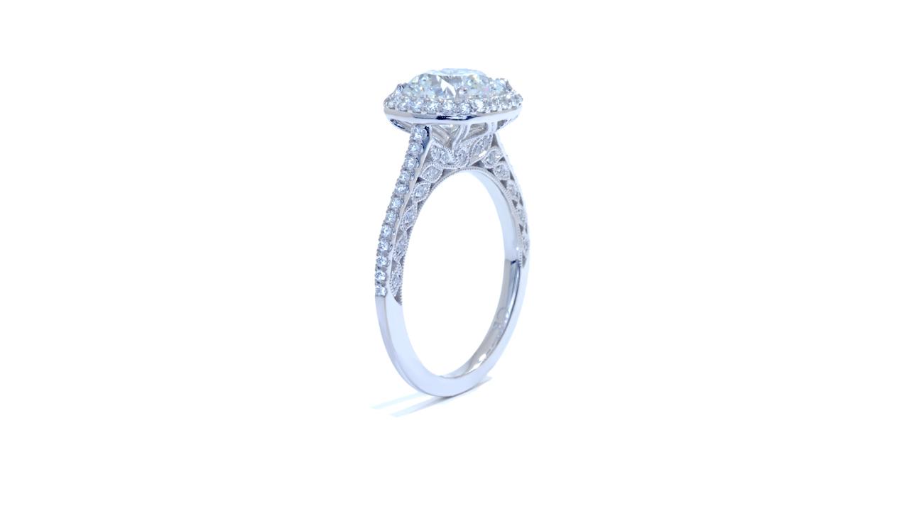 jb5318_lgd1412 - Cushion Halo Diamond Engagement Ring at Ascot Diamonds