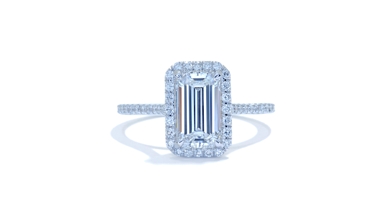 jb5348_d6772 - Emerald Cut Diamond Engagement Ring at Ascot Diamonds