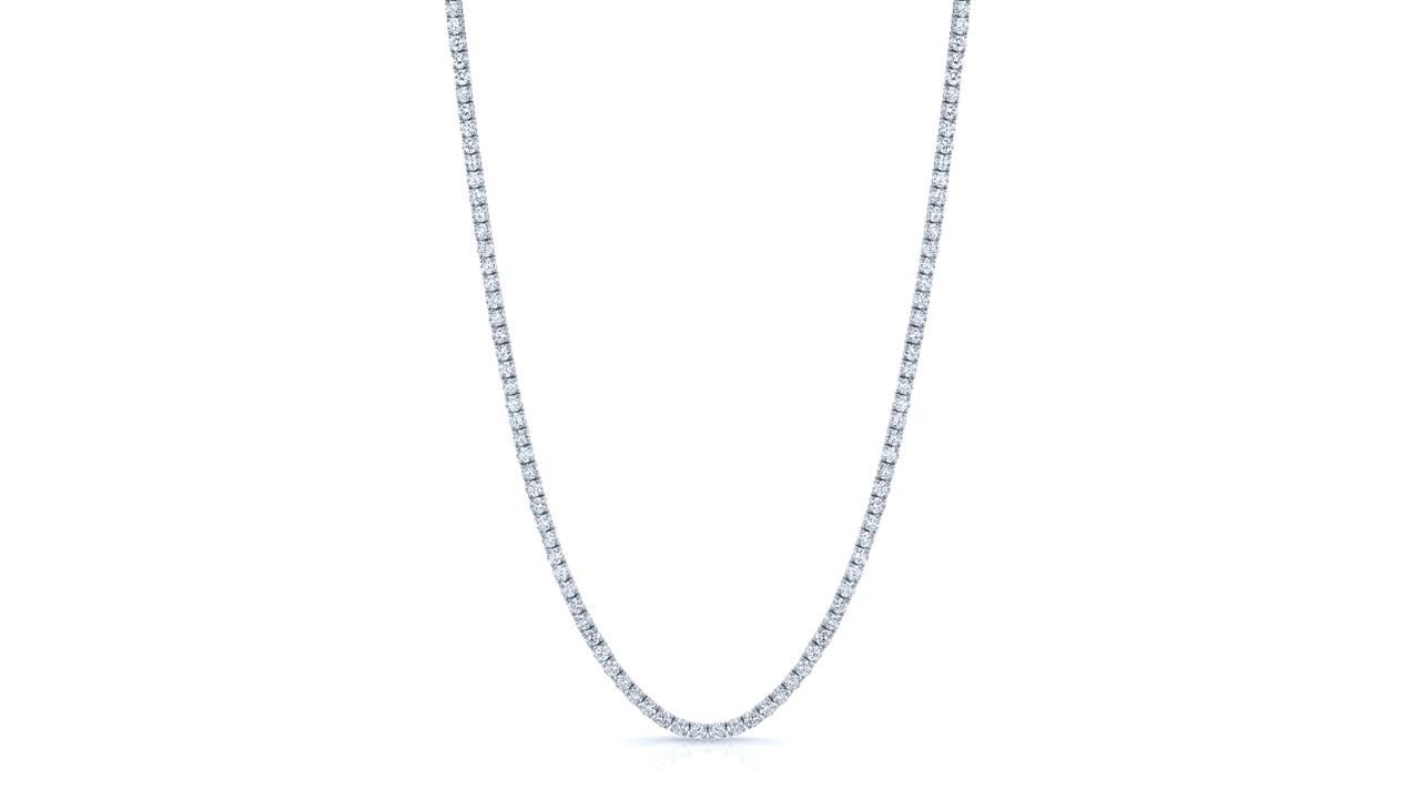 jb5355 - 13.75 carats Diamond Tennis Necklace at Ascot Diamonds