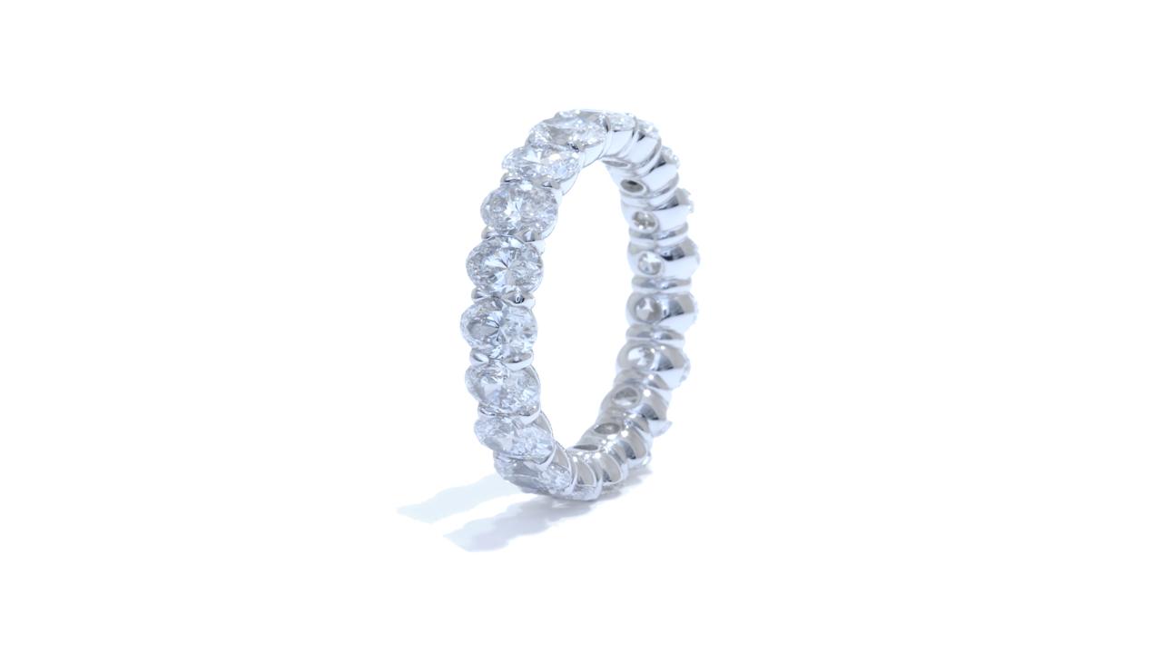 jb5392 - Platinum Oval Cut Diamond Eternity Band 4.50 ct. tw. at Ascot Diamonds