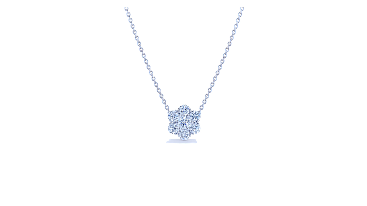 jb5429 - Florettes Diamond Pendant Necklace 0.46ct tw at Ascot Diamonds