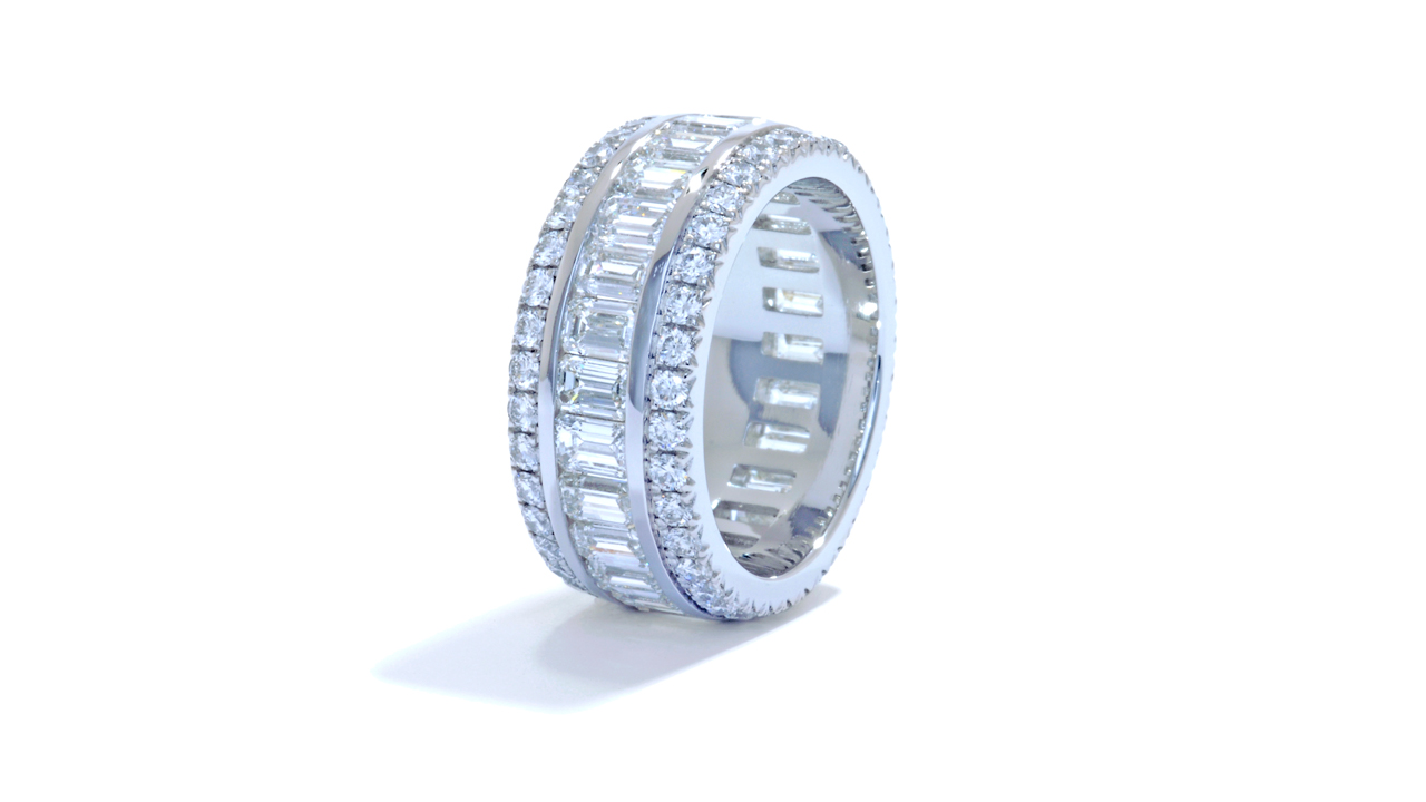jb5484 - 4.65 ct. Wide Emerald Cut Diamond Band at Ascot Diamonds