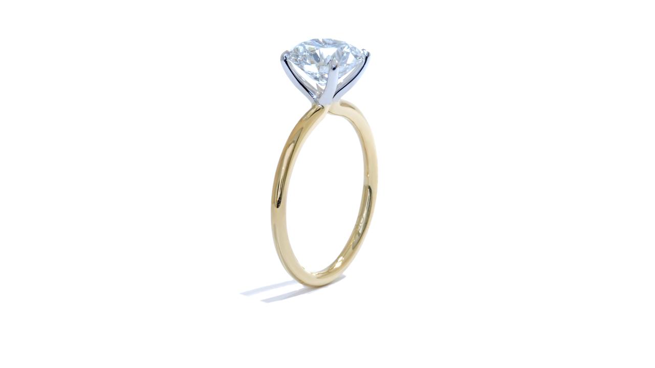 jb5512_lgd1203 - Round Cut Lab Diamond Engagement Ring at Ascot Diamonds