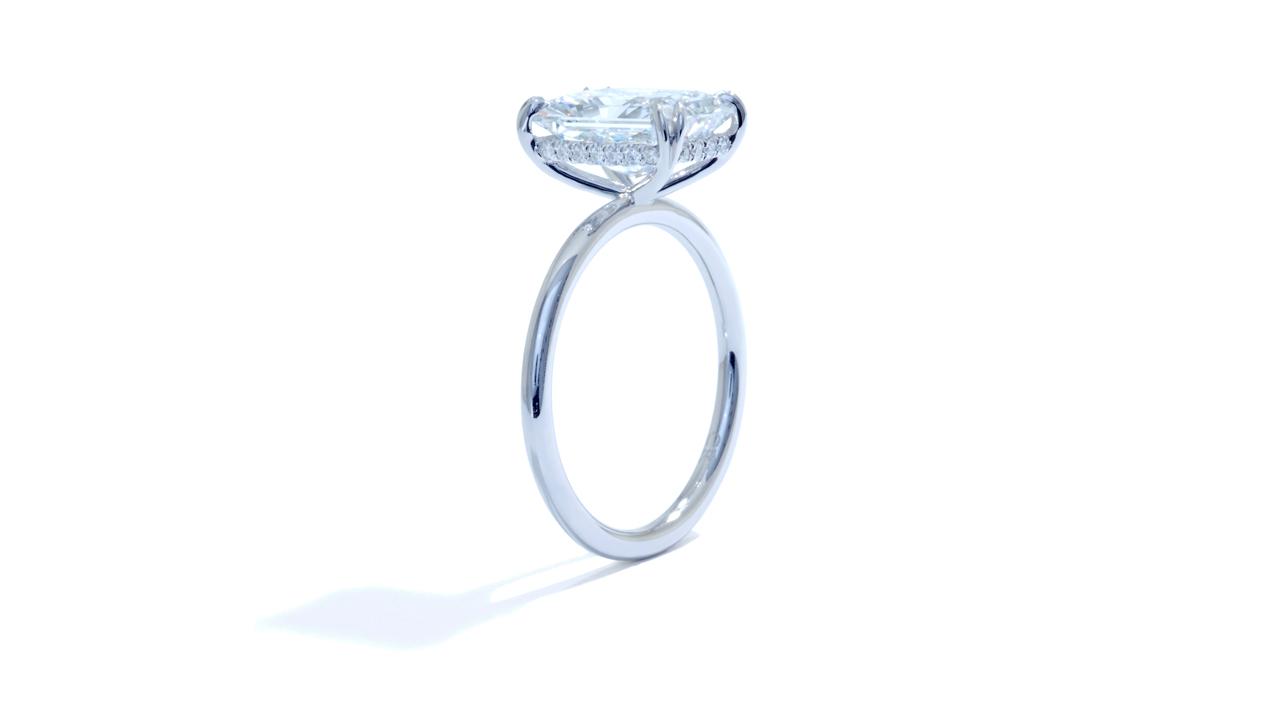 jb5561_lgd1653 - 3.00ct Lab Grown Radiant Engagement Ring at Ascot Diamonds