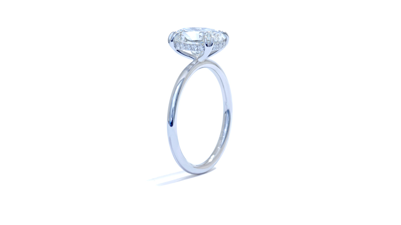 jb5567_lgd1915 - 2ct Oval Cut Hidden Halo Ring at Ascot Diamonds
