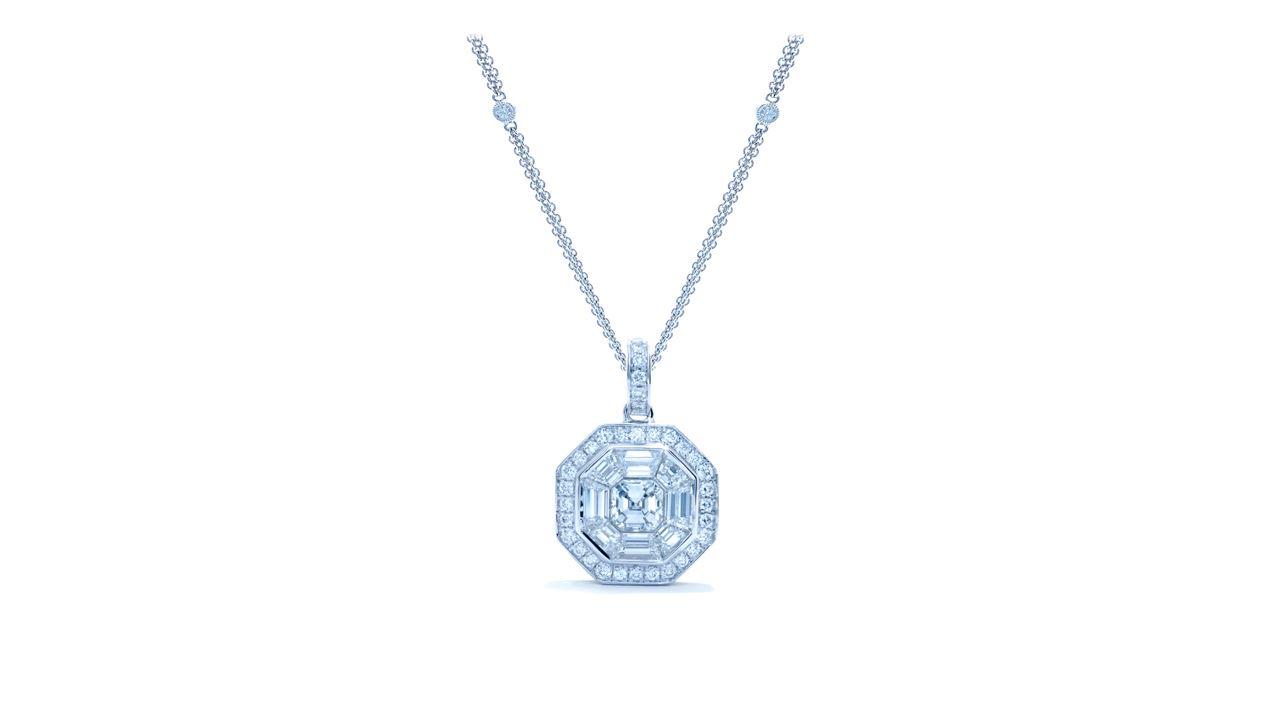 jb5742 - Art-Deco Asscher Diamond Necklace at Ascot Diamonds